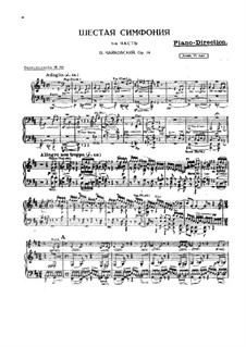 Movement I: partes by Pyotr Tchaikovsky