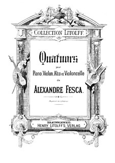 Piano Quartet No.1, Op.26: parte piano by Alexander Fesca