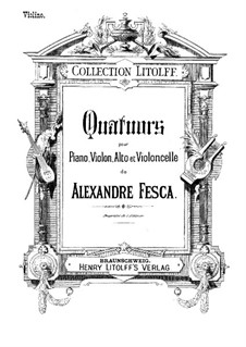 Piano Quartet No.1, Op.26: parte do violino by Alexander Fesca