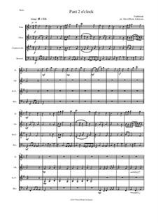 Past 2 o'clock: Para quarteto de sopro by folklore, David W Solomons