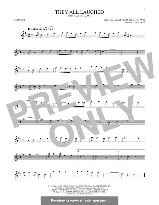 They All Laughed: para Saxofone Alto by George Gershwin