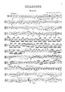 String Quartets No.1-2, Op.51: parte viola by Johannes Brahms