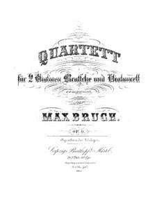 String Quartet No.1 in C Minor, Op.9: parte violoncelo by Max Bruch