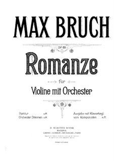 Romance for Viola and Orchestra, Op.85: versão para violino e piano by Max Bruch