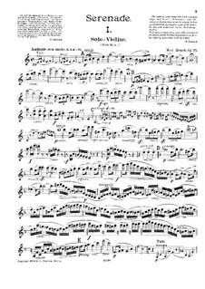 Serenade in A Minor, Op.75: Parte de solo by Max Bruch