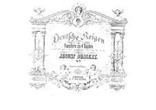 Deutsche Reigen für Klavier, vierhändig, Op.16: Deutsche Reigen für Klavier, vierhändig by August Bungert