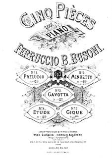 Cinq Pièces (Five Pieces), BV 71 Op.3: No.4 Etude by Ferruccio Busoni