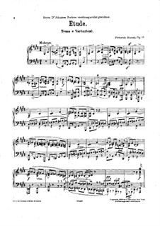 Etude in Form of Variations, BV 206 Op.17: Etude in Form of Variations by Ferruccio Busoni