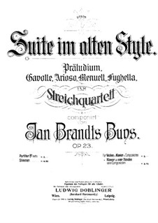 Suite in the Old Style for String Quartet, Op.23: violino parte I by Jan Brandts-Buys