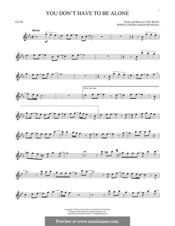You Don't Have To Be Alone ('N Sync): para flauta by David Nicoll, Joshua Chasez, Veit Renn