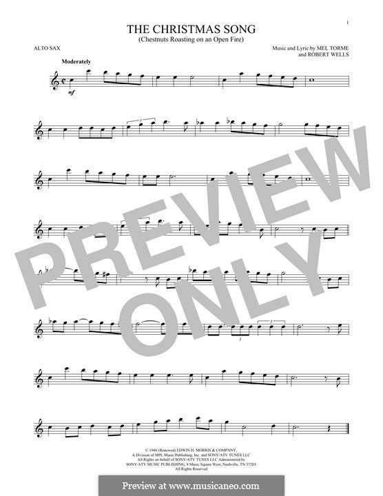 The Christmas Song (Chestnuts Roasting on an Open Fire): para Saxofone Alto by Mel Tormé, Robert Wells