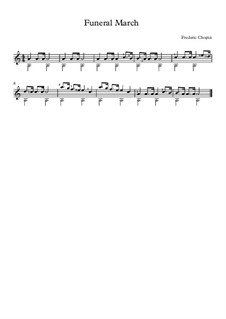 Sonata for Piano No.2 in B Flat Minor, Op.35: Movement III, for guitar by Frédéric Chopin