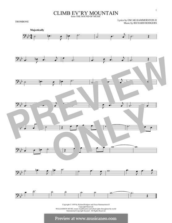 Climb Ev'ry Mountain: para trombone by Richard Rodgers