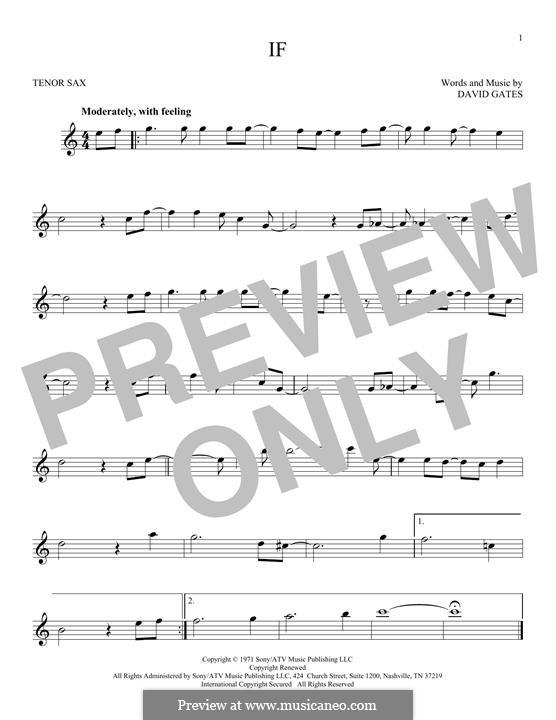 If (Bread): para saxofone tenor by David Gates