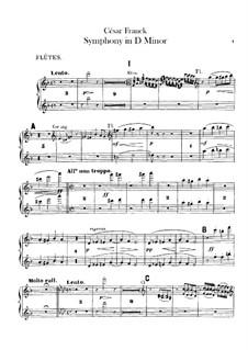 Simphony in D Minor, Op.48: parte de flautas by César Franck