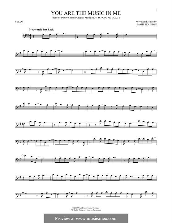 You are the Music in Me (High School Musical 2): para violoncelo by Jamie Houston