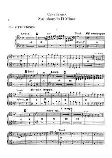 Simphony in D Minor, Op.48: parte de trombones e tubas by César Franck