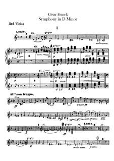 Simphony in D Minor, Op.48: violino parte II by César Franck
