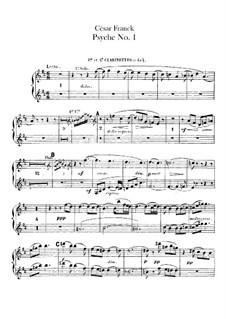 Psyché, M.47: parte clarinetas by César Franck