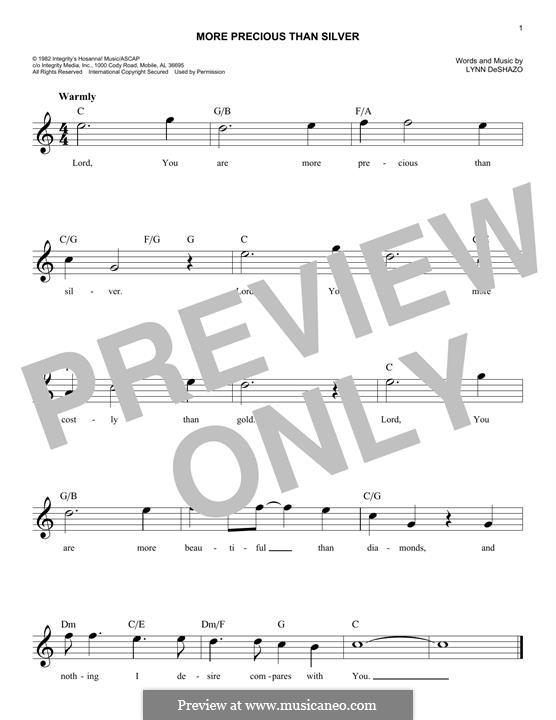 More Precious Than Silver: melodia by Lynn DeShazo