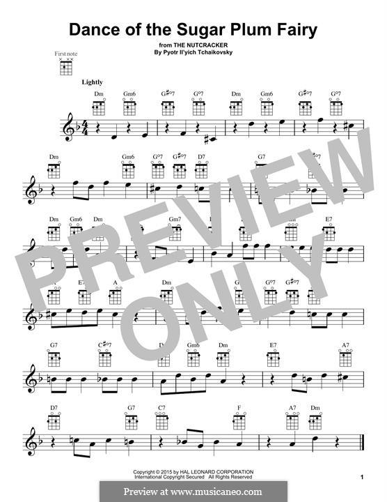 No.3 Dance of the Sugar-Plum Fairy: para ukulele by Pyotr Tchaikovsky
