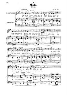 Six Songs, Op.18: No.1 Marie by Robert Franz