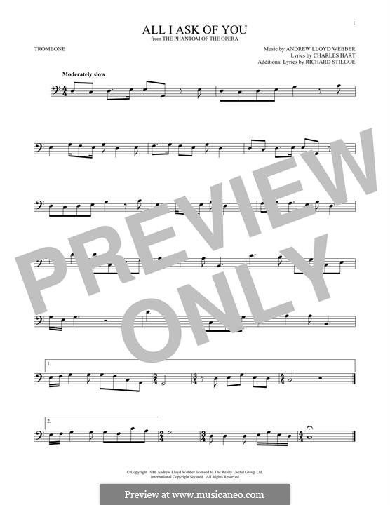 All I Ask of You: para trombone by Andrew Lloyd Webber