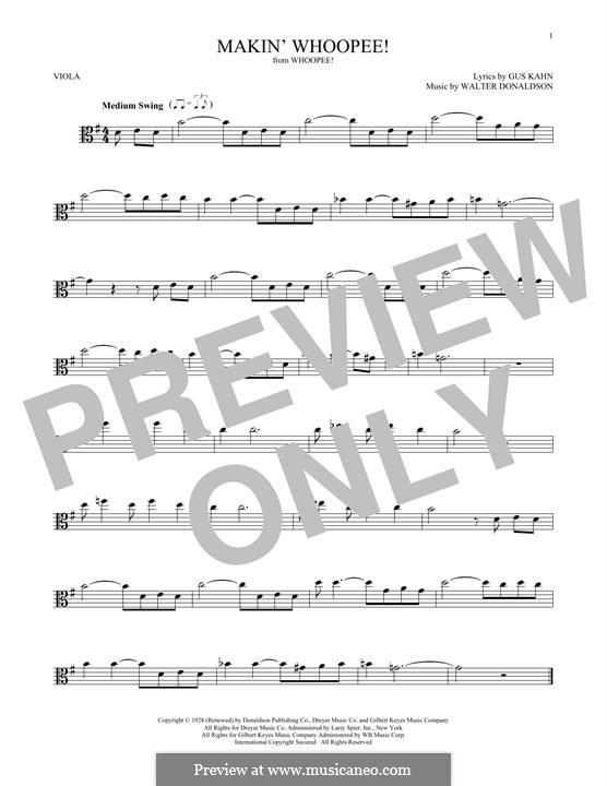Makin' Whoopee!: para viola by Walter Donaldson