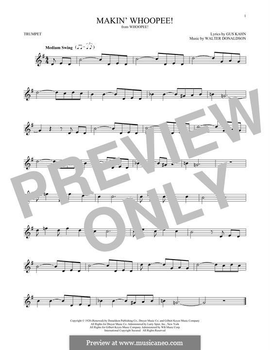 Makin' Whoopee!: para trompeta by Walter Donaldson