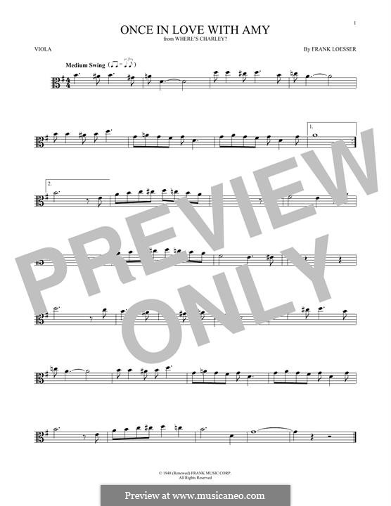 Once in Love with Amy (from Where's Charley?): para viola by Frank Loesser