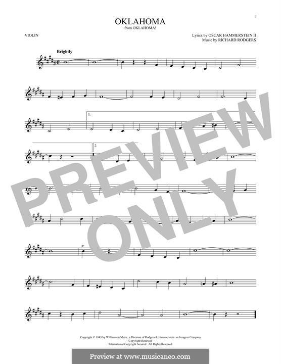 Oklahoma!: para violino by Richard Rodgers