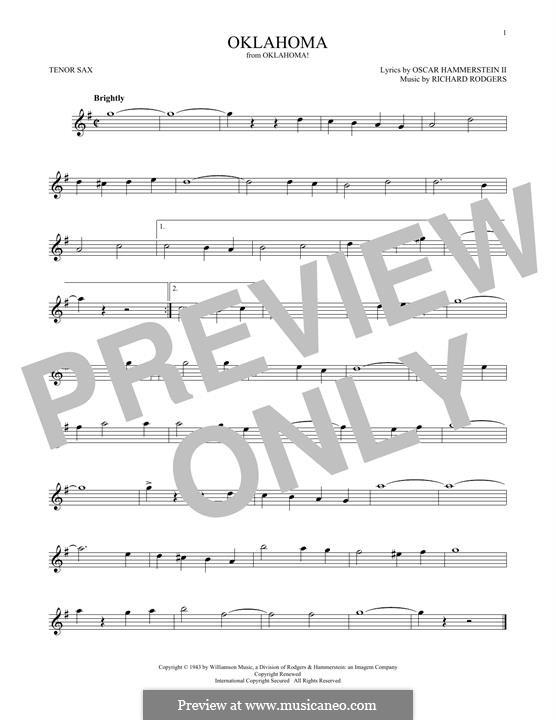 Oklahoma!: para saxofone tenor by Richard Rodgers