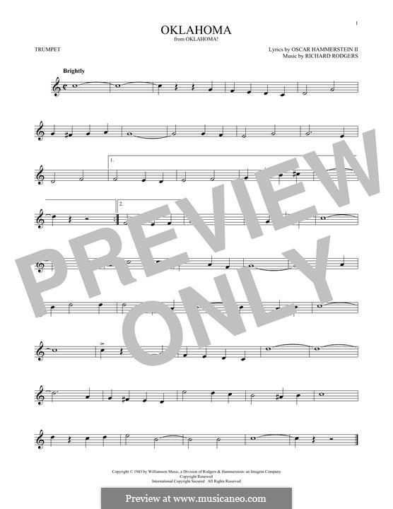 Oklahoma!: para trompeta by Richard Rodgers