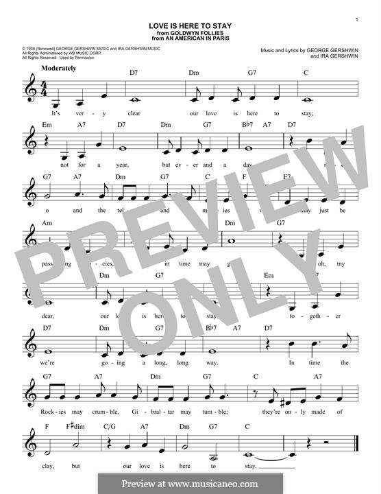 Love is Here to Stay: melodia by George Gershwin