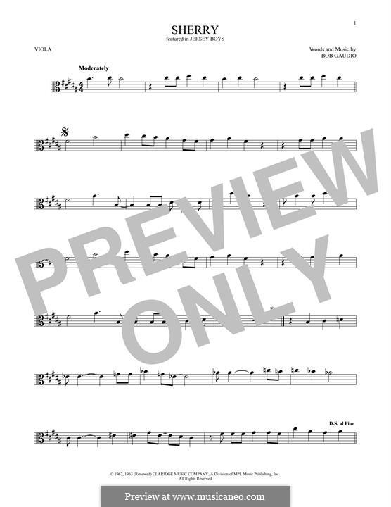 Sherry (The Four Seasons): para viola by Bob Gaudio