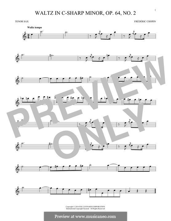 No.2 in C Sharp Minor: para saxofone tenor by Frédéric Chopin
