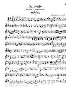 Piano Quintet in D Major, Op.50bis: violino parte II by Charles Lefebvre
