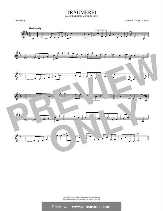 No.7 Träumerei (Dreaming): para trompeta by Robert Schumann