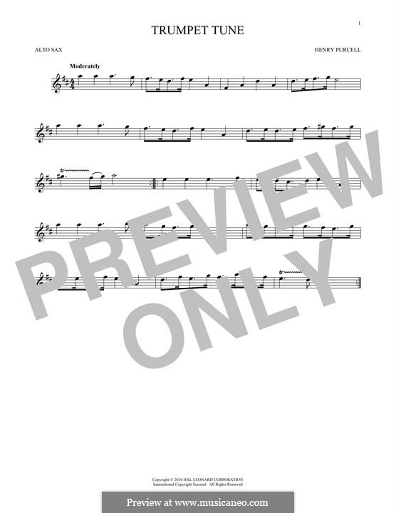 Trumpet tune and Air: para Saxofone Alto by Henry Purcell