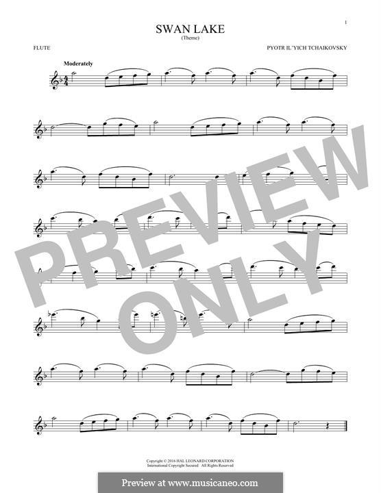 No.14 Scène: Arrangement for flute (Theme) by Pyotr Tchaikovsky