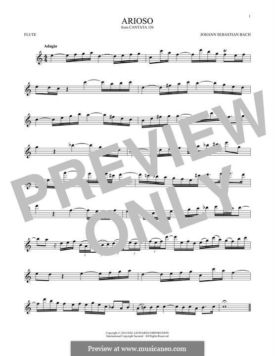 Arioso in G Major: para flauta by Johann Sebastian Bach