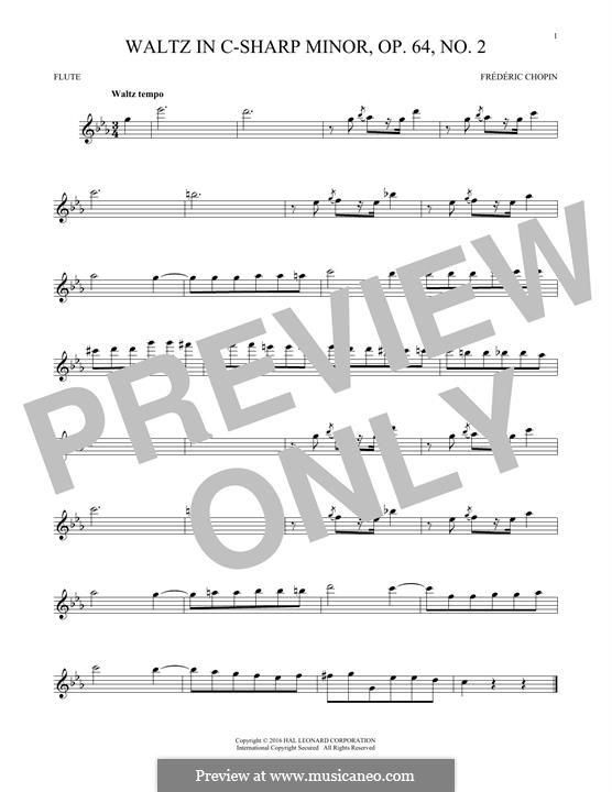 No.2 in C Sharp Minor: para flauta by Frédéric Chopin