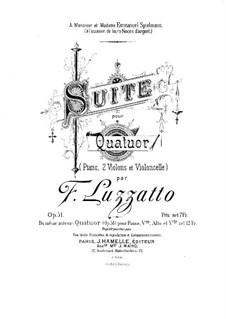 Suite for Piano Quartet, Op.51: Partitura completa by Fortunato Luzzatto