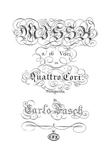 Missa à sedici voci in Quattro Cori: Canon on Twenty-Five Voices by Karl Friedrich Christian Fasch