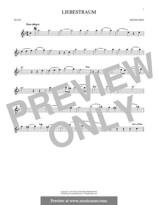 Nocturne No.3: Theme, for flute by Franz Liszt