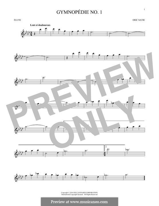 No.1: para flauta by Erik Satie