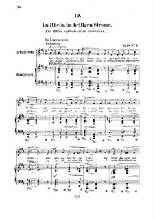 Six Songs, Op.18: No.2 Im Rhein, im heiligen Strome (The Rhine Reflects in its Clearness) by Robert Franz