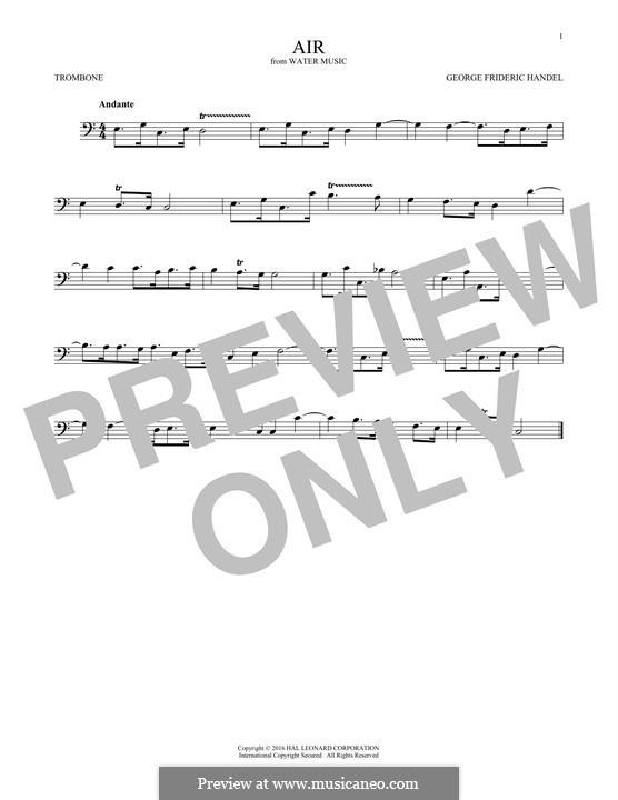 Suite No.1 in F Major – Aria, HWV 348: para trombone by Georg Friedrich Händel