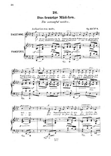 Six Songs, Op.23: No.4 Das traurige Mädchen (The Sorrowful Maiden) by Robert Franz