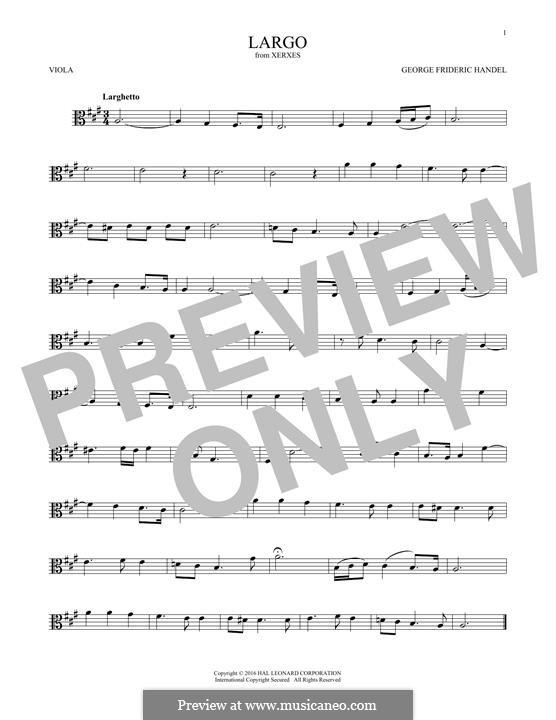 Largo: para viola by Georg Friedrich Händel